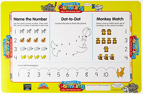 9781586101770: Numbers and Counting Write-On Activity Mat (Wipe-Off Activity Mats)