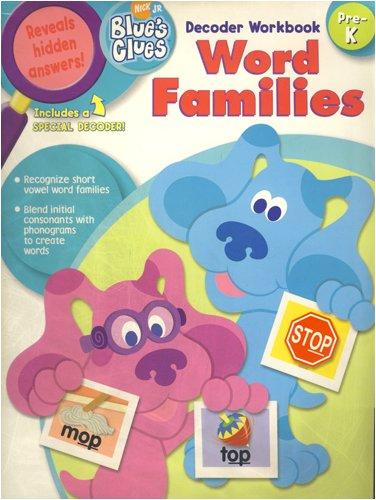 9781586108816: Word Families: Decoder Workbook: Pre-K (Blue's Clues)