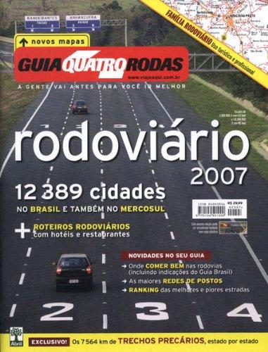 """Guia Rodoviario"""" Brazil Road Atlas in Portuguese: Quatro Rodas"""