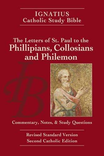 9781586170912: Philippians, Colossians and Philemon: Ignatius Study Bible