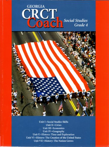 9781586203085: Georgia CRCT coach social studies grade 4
