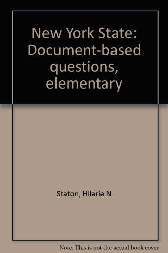9781586203580: New York State: Document-based questions, elementary