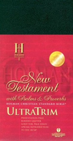 9781586400217: HCSB UltraTrim New Testament with Psalms and Proverbs - Black Bonded Leather