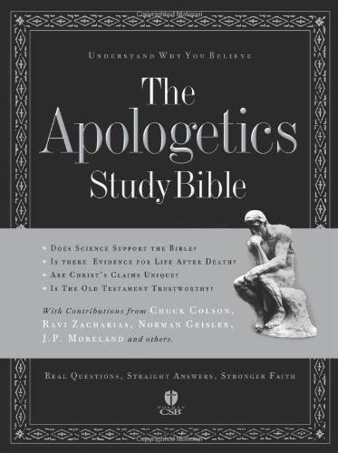 9781586400262: The Apologetics Study Bible (Apologetics Bible) Black