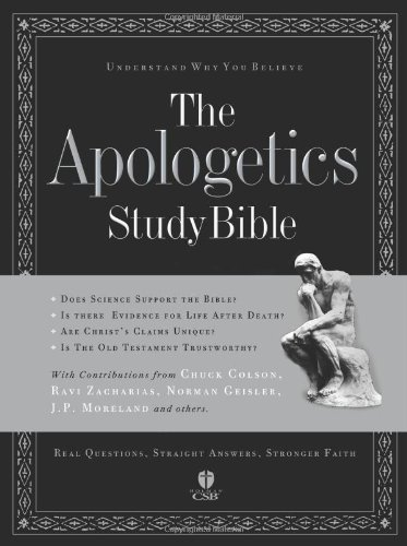 9781586400262: The Apologetics Study Bible (Apologetics Bible) Black