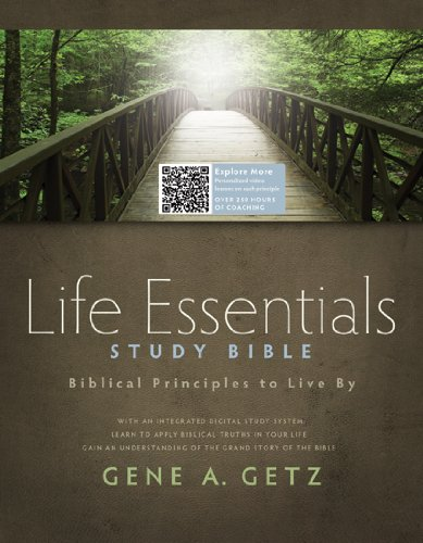 9781586400330: Life Essentials Study Bible, Hardcover Indexed: Biblical Principles to Live By