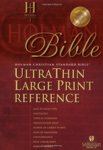 9781586401214: HCSB Large Print Ultrathin Reference Bible, Black Genuine Leather