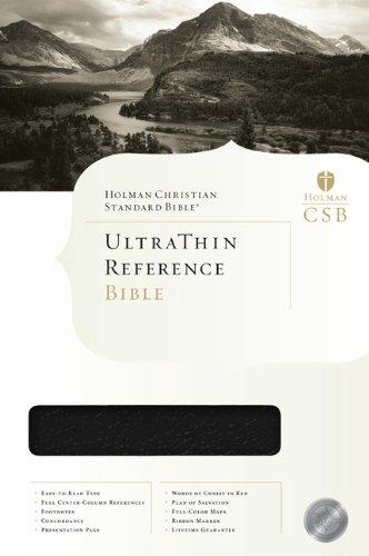 HCSB Ultrathin Reference Bible: Editor-Holman Bible Editorial