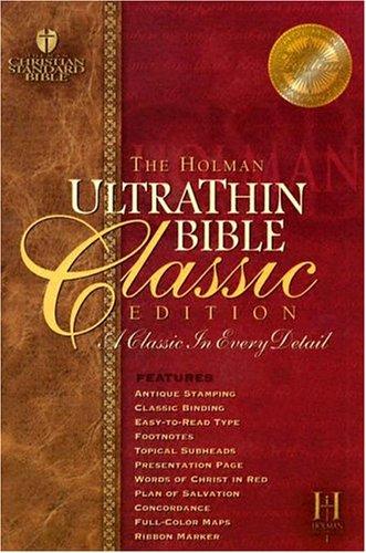 9781586401429: Holman Ultrathin Bible Classis Edition: Holman Christian Standard, Classic Edition, Burgundy, Ultrathin, Bonded Leather
