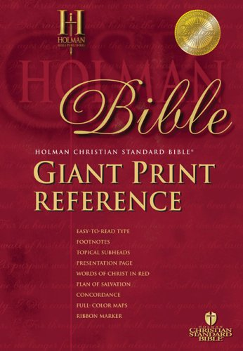 9781586401542: HCSB Giant Print Reference Bible, Black Bonded Leather Indexed