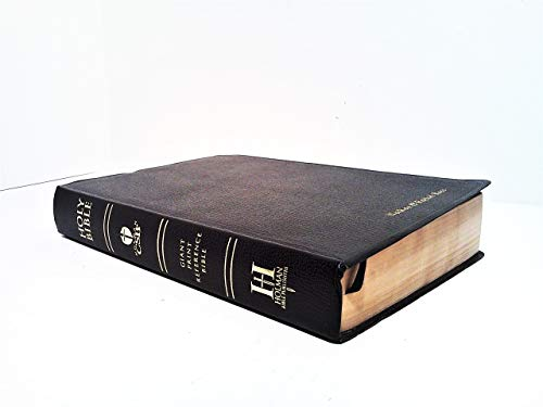 HCSB Giant Print Reference Bible, Black Imitation