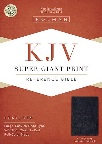 KJV Super Giant Print Bible, Black Genuine