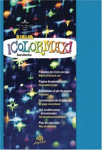 9781586402181: RVR 1960 Colormax Bible (Blue Dura Max Binding) (Spanish Edition)