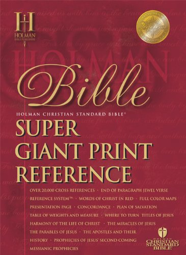 9781586402617: HCSB Super Giant Print Reference Bible, Black Bonded Leather