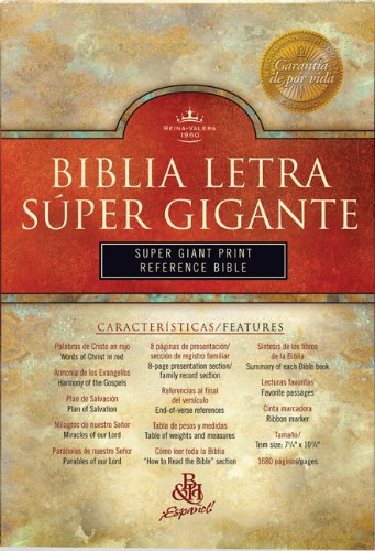 RVR 1960 Super Giant Print Bible (Black: B&H Espanol Editorial