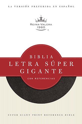 RVR 1960 Biblia Letra Súper Gigante con Referencias, negro imitación piel con &iacute...