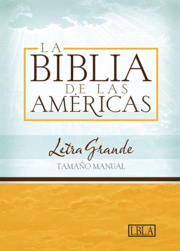 LBLA Biblia Letra Grande Tamaño Manual, negro piel fabricada (Spanish Edition)