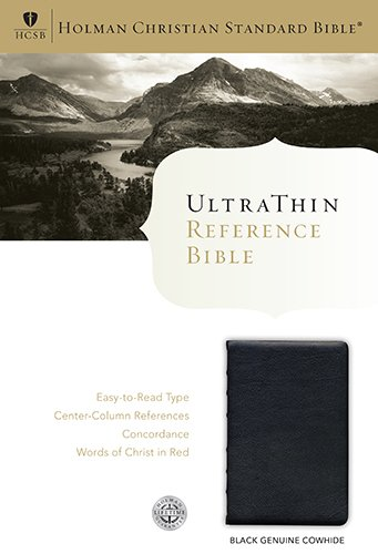 Deluxe Ultrathin Reference Bible-HCSB