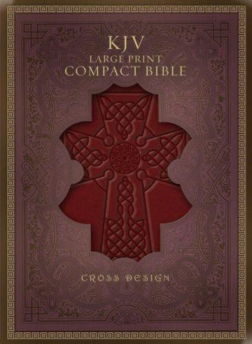 9781586404659: KJV Large Print Compact Bible, Burgundy Cross LeatherTouch