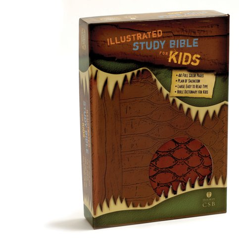 9781586404727: HCSB Illustrated Study Bible for Kids, Brown Simulated Leather