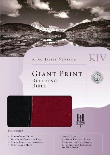 9781586405144: KJV Giant Print Reference Bible, Black/Burgundy Simulated Leather