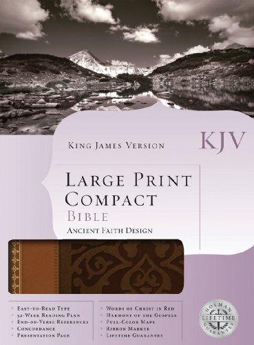 9781586405151: KJV Large Print Compact Bible, Brown/Tan LeatherTouch
