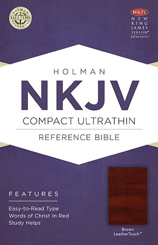 9781586406196: NKJV Compact Ultrathin Bible, Brown LeatherTouch