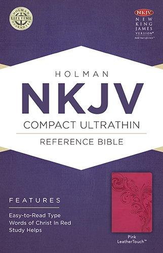 NKJV Compact Ultrathin Bible, Pink Leathertouch: Holman Bible Staff