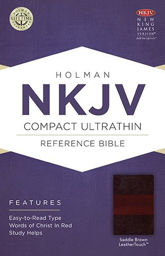 9781586406271: NKJV Compact Ultrathin Bible, Saddle Brown LeatherTouch
