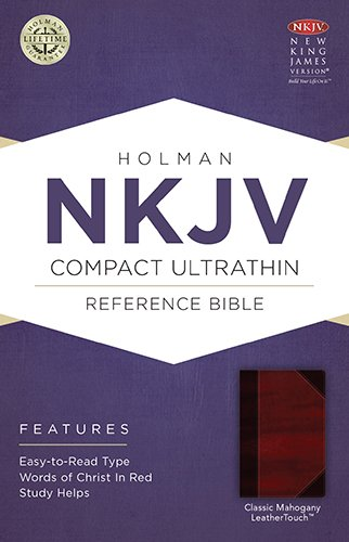 9781586406295: NKJV Compact Ultrathin Bible, Classic Mahogany LeatherTouch