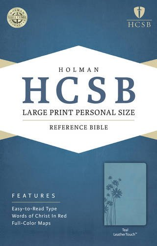 9781586407735: HCSB Large Print Personal Size Bible, Teal LeatherTouch