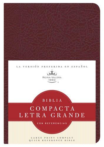 RVR 1960 Biblia Compacta Letra Grande con Referencias, borgoña imitación piel (...