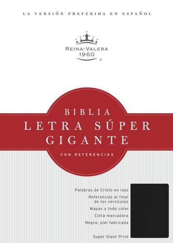 9781586408688: RVR 1960 Biblia Letra Súper Gigante, negro imitación piel con índice (Spanish Edition)