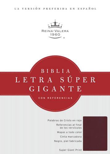9781586408701: RVR 1960 Biblia Letra Súper Gigante, borgoña imitación piel con índice (Spanish Edition)