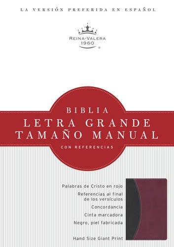 9781586408916: RVR 1960 Biblia Letra Grande Tamaño Manual, negro/borgoña símil piel (Spanish Edition)