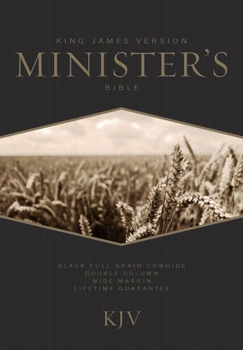 KJV Minister's Bible, Black Genuine Cowhide
