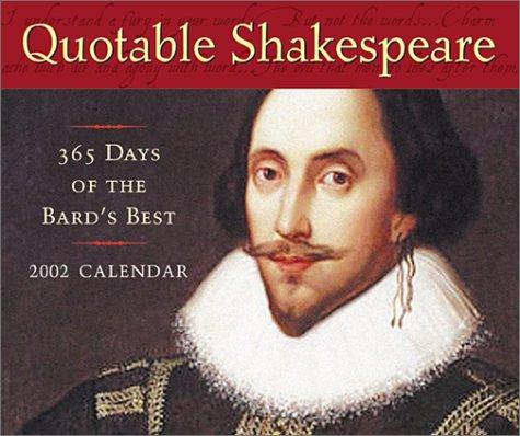 9781586430245: Quotable Shakespeare 2002 Box Calendar