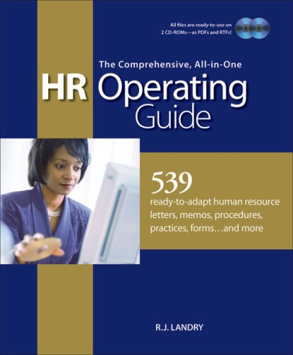 9781586440671: The Comprehensive, All-in-One HR Operating Guide: 539 Ready to Adapt Human Resource Letters, Memos, Procedures, Practices, Forms . . . and More