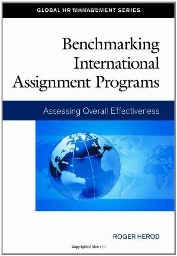 9781586441449: Benchmarking International Assignment Programs: Assessing Overall Effectiveness (Global HR Management Series)
