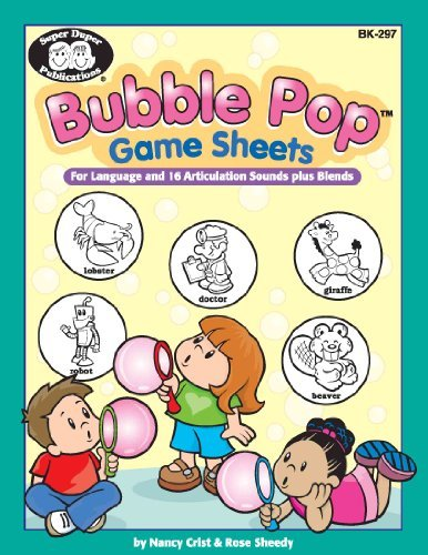 9781586502003: Bubble Pop Game Sheets For Language and 16 Articulation Sounds plus Blends