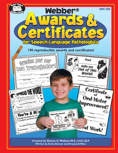 9781586502911: Webber Awards & Certificates for Speech-Language Pathologists with Printable CD-ROM