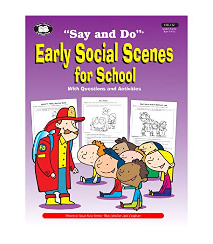 9781586504618: Early Social Scenes for School (Say and Do)