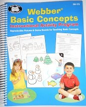 9781586504717: Webber Basic Concepts Instructional Activity Program Reproducible Pictures & Game Boards for Teaching Basic Concepts