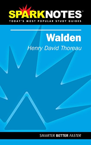 Spark Notes Walden: Thoreau, Henry David;