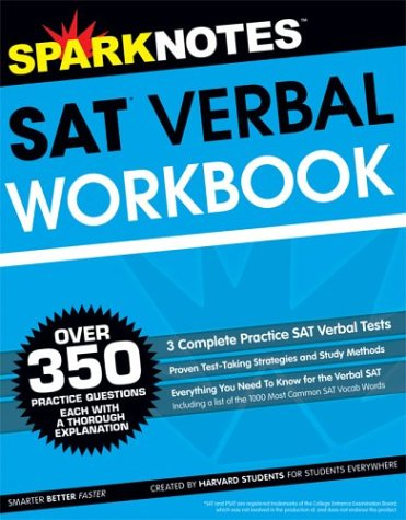 9781586639570: SAT Verbal Workbook (SparkNotes Test Prep)