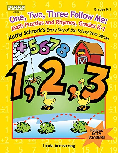 9781586831851: One, Two, Three, Follow Me! Math Puzzles and Rhymes (Kathy Schrock's Every Day of the School Year Series)