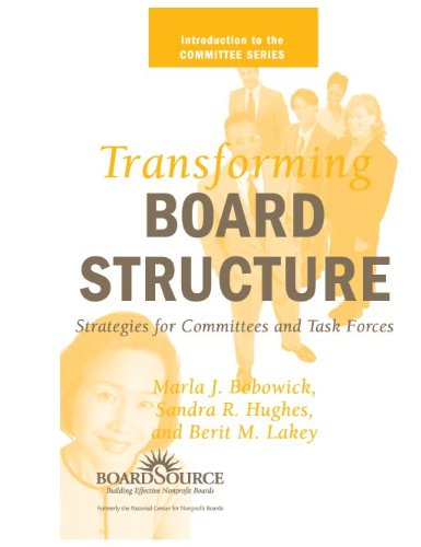 9781586860257: Transforming Board Structure: Strategies for Committees and Task Forces (Introduction to the Committee Series)