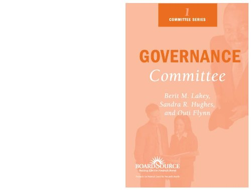 9781586860691: Governance Committee (Boardsource Committee Series, 1.)
