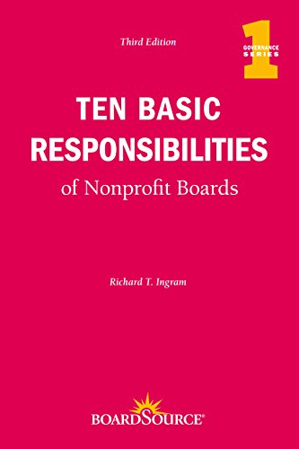9781586861483: Ten Basic Responsibilities of Nonprofit Boards, Third Edition