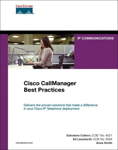 9781587051395: Cisco CallManager Best Practices: A Cisco AVVID Solution